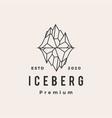 iceberg mount hipster vintage logo icon vector image vector image