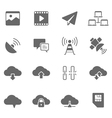 Icon set - network communication vector image
