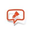 Ink pen message sticker orange vector image vector image