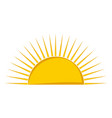 isolated half sun icon vector image