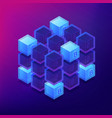 isometric blockchain cryptocurrency networking vector image vector image