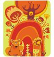 magical autumn forest vector image vector image