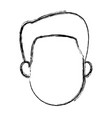 man profile cartoon face person character vector image vector image
