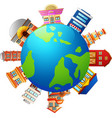 many kind of shops on earth vector image