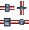 Patriot Day memorial Tags Collection vector image vector image