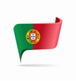 portuguese flag map pointer layout vector image