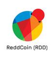 reddcoin rdd crypto coin i vector image vector image
