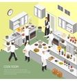 Restaurant Cooking Room Isometric Poster vector image vector image