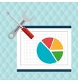 round statistics graphics board vector image vector image