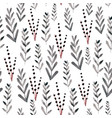 seamless floral pattern with watercolor branches vector image vector image