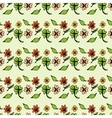 Seamless pattern of leaves and flowers vector image vector image