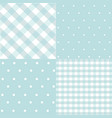 set of baby boy seamless dots polka patterns vector image