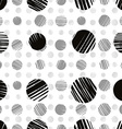 Sketch dots seamless pattern monochrome vector image vector image
