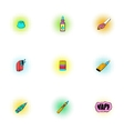 Smoking icons set pop-art style vector image