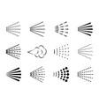 spray icon clean water drop hairspray symbol vector image vector image
