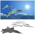 stealth fighter vector image vector image