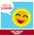 summer sun sign vector image vector image