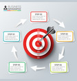 target with dart for infographic vector image