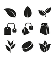 Tea Leaf and Bags Icons Set vector image vector image