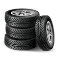 Tire Set vector image vector image