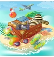 Travel Island Concept vector image vector image
