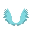 Two wings icon flat style vector image vector image