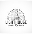 vintage style lighthouse abstract sign vector image vector image