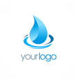 water drop aqua logo vector image