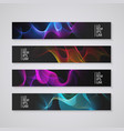 web banner set with abstract colorful background vector image