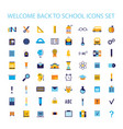 welcome back to school icon set vector image vector image