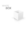 White Box isolated on white background vector image vector image