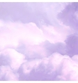 White Sky and pink Clouds vector image vector image