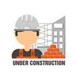 worker man under construction concept vector image vector image