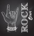 rock hand vector image
