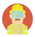 Builder icon flat style vector image