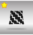 pillow black icon button logo symbol vector image