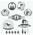 Vintage beer brewery emblems labels and design vector image