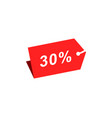 30 discount hang tag template vector image vector image