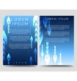 Abstract blue brochure template with arrows vector image vector image
