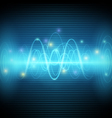 Abstract sound waves Blue light music Equalizer vector image