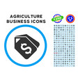 bank account tags rounded icon with set vector image vector image