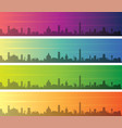 bologna multiple color gradient skyline banner vector image vector image