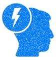 Brain Electricity Grainy Texture Icon vector image
