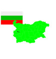 bulgaria map and flag set vector image vector image
