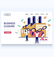 business closure website landing page vector image