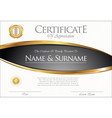 certificate or diploma retro template 04 vector image vector image