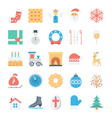 Christmas and Easter Colored Icons 3 vector image vector image