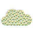 cloud collage of corn icons vector image vector image