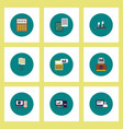 collection of icons in flat style business items vector image vector image