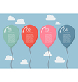 colorful balloon infographic